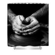 Hands That Form Shower Curtain