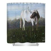 Handsome Longhorn Shower Curtain