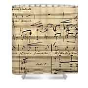 Handwritten Score For Hjertets Melodier, Opus 5 Shower Curtain