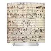 Handwritten Score For Waltz For Piano, Opus 39 Shower Curtain