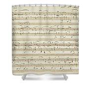 Handwritten Score For Waltz In Flat Major Shower Curtain