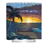 Hang Loose Harbor Shower Curtain