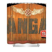 Hangar Bar Entrance Sign Shower Curtain