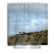 Hanggliders Shower Curtain