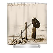 Hangin Around Montana Shower Curtain