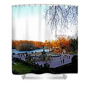 Hangin' At Bethesda Fountain Shower Curtain