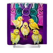 Hangin' With My Peeps Shower Curtain