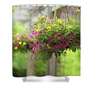 Hanging Baskets Shower Curtain