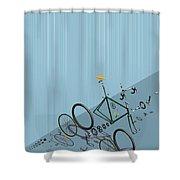 Hanging Bike Shower Curtain