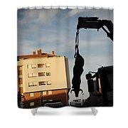 Hanging Bull Shower Curtain