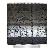 Hanging Butterflies B W 2  Shower Curtain