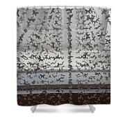 Hanging Butterflies B W  Shower Curtain