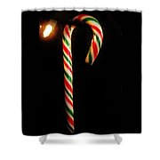 Hanging Candy Cane Shower Curtain