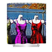 Hanging Dresses Shower Curtain