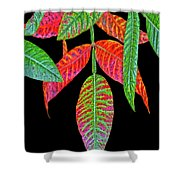 Hanging Green And Red Leafs... Shower Curtain
