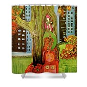 Hanging In The Park Shower Curtain