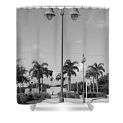 Hanging Lamps Shower Curtain