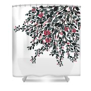 Hanging Leaves IIi Shower Curtain