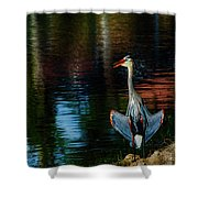 Hanging On The Rocks Shower Curtain