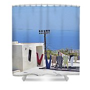 Hanging Out  Shower Curtain