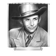 Hank Williams Shower Curtain