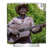 Hank Williams Statue - Cropped Shower Curtain