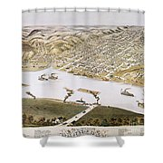 Hannibal, Missouri, 1869 Shower Curtain