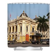 Hanoi Opera House 02 Shower Curtain