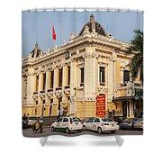 Hanoi Opera House 04  Shower Curtain