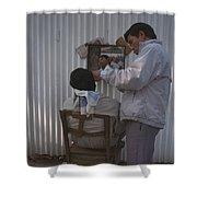 Hanoi Street Barber Shower Curtain