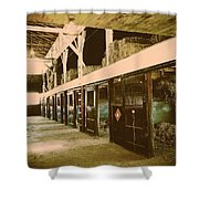 Hanover Shoe Farm Broodmare Stables Shower Curtain