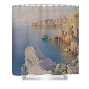 Hanzen, Alexei 1876-1937 A Cove In Dubrovnik Shower Curtain