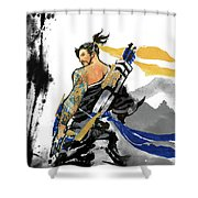 Hanzo Overwatch Shower Curtain