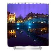 Hapenny Bridge, Dublin, Ireland Shower Curtain