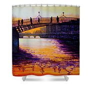 Ha'penny Bridge Dublin Shower Curtain
