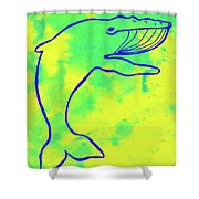 Happier Humpback 1 Shower Curtain