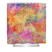 Happiness Abstract Painting Shower Curtain