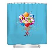 Happy 40th Birthday Shower Curtain