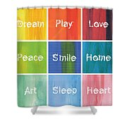 Happy 9 In 1 Shower Curtain