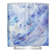 Happy Abstract Shower Curtain