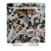 Shifting Layers Shower Curtain