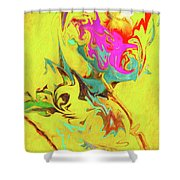 Happy Anniversary Abstract  Shower Curtain