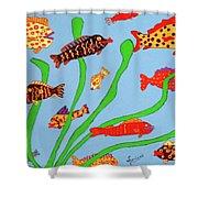 Happy Aquarium Shower Curtain