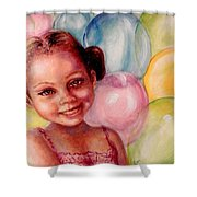Happy Balloons Shower Curtain