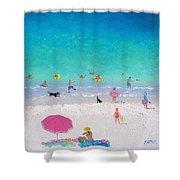 Happy Beach Days Shower Curtain