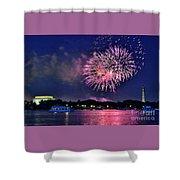 Happy Birthday America # 2 Shower Curtain