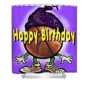 Happy Birthday Basketball Wiz Shower Curtain