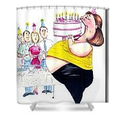 Happy Birthday Shower Curtain