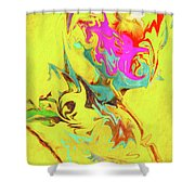 Happy Birthday Lilac Breasted Roller Abstract Shower Curtain