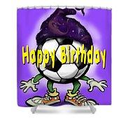 Happy Birthday Soccer Wizard Shower Curtain